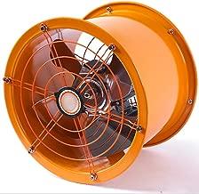 GWDJ Ventilador eléctrico Ventilador de cilindro de metal / Ventilador de escape de la industria / Ventilador de lámpara de cocina / Ventilador de escape de pared de gran volumen de aire 12 pulgadas V