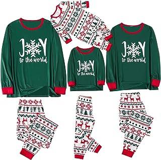 2 Piezas Pijama Familiar a Juego Navidad Pijamas Navideños Familiares Iguales Pijamas Bebe Niña Pijama Mujer Largo Hombre Invierno