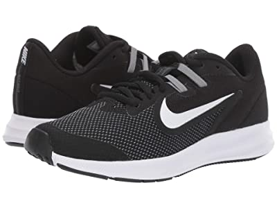 Nike Kids Downshifter 9 (Big Kid) (Black/White/Anthracite/Cool Grey) Boys Shoes
