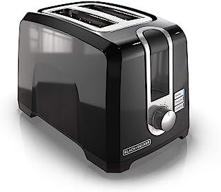 Black+Decker T2569, Tostadora de 2 rebanadas, tostadora para bagel, blanca, talla única