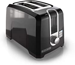 BLACK+DECKER 2-Slice Extra-Wide Slot Toaster, Square, Black, T2569B