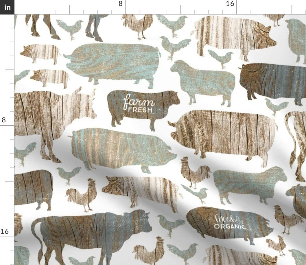 Easy-to-use Spoonflower Fabric - Modern Farm Ranking TOP8 Farmhouse Wood Rustic Weathered
