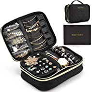 BEKVÄMT Travel Jewelry Organizer Case, Large Untangled Jewelry Storage Holder, Portable and...