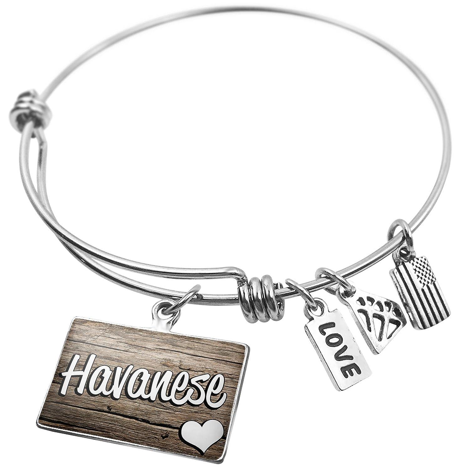 NEONBLOND Expandable Wire Bangle Bracelet Havanese, Dog Breed