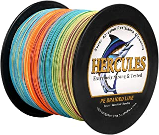 HERCULES Fishing Line Braided 2000m(2187yards) 6lb to100lb 4 Strands 15 Colors