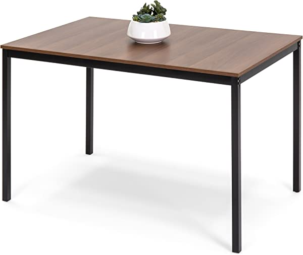 Best Choice Products 48in Multipurpose Modern Rectangular Dining Table Office Desk W Wood Finish Tabletop Steel Frame