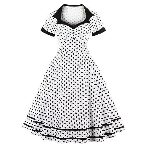 plus size 50s style dresses amazon Satin Petticoats nihsatin women s audrey hepburn vintage style rockabilly swing dress