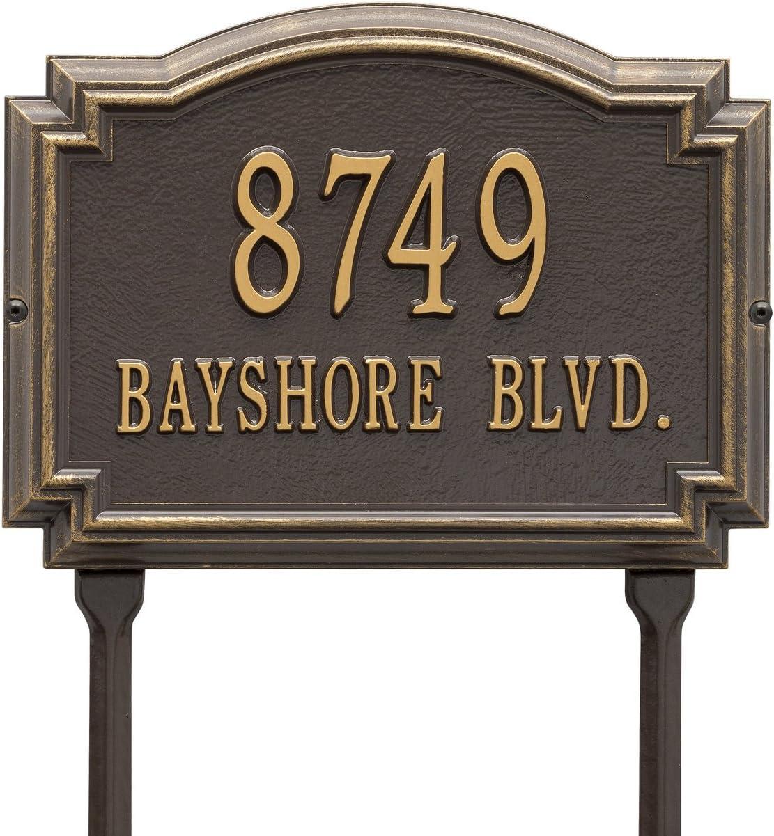 Amazon Com Customized Williamsburg Lawn Address Plaque 2 Lines 14 W X 10 H Home Improvement