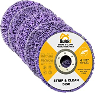 """QuickT SDA702K 4 1/2"""" Rust Paint Stripper Remover Stripping Disc Abrasive Wheel Pad Tool for Angle Grinder - Pack of 5, 7/8"""" Arbor"""