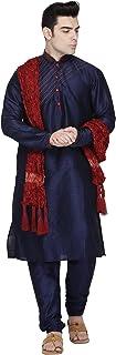 Seda Fiesta Kurta Pijama Bufanda (Camisa Larga y Pantalón) para Hombre