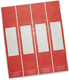 Color-Bands Color Coding File Handles and Labels for Expandable File Pockets and Wallets, Red, 100 per Package