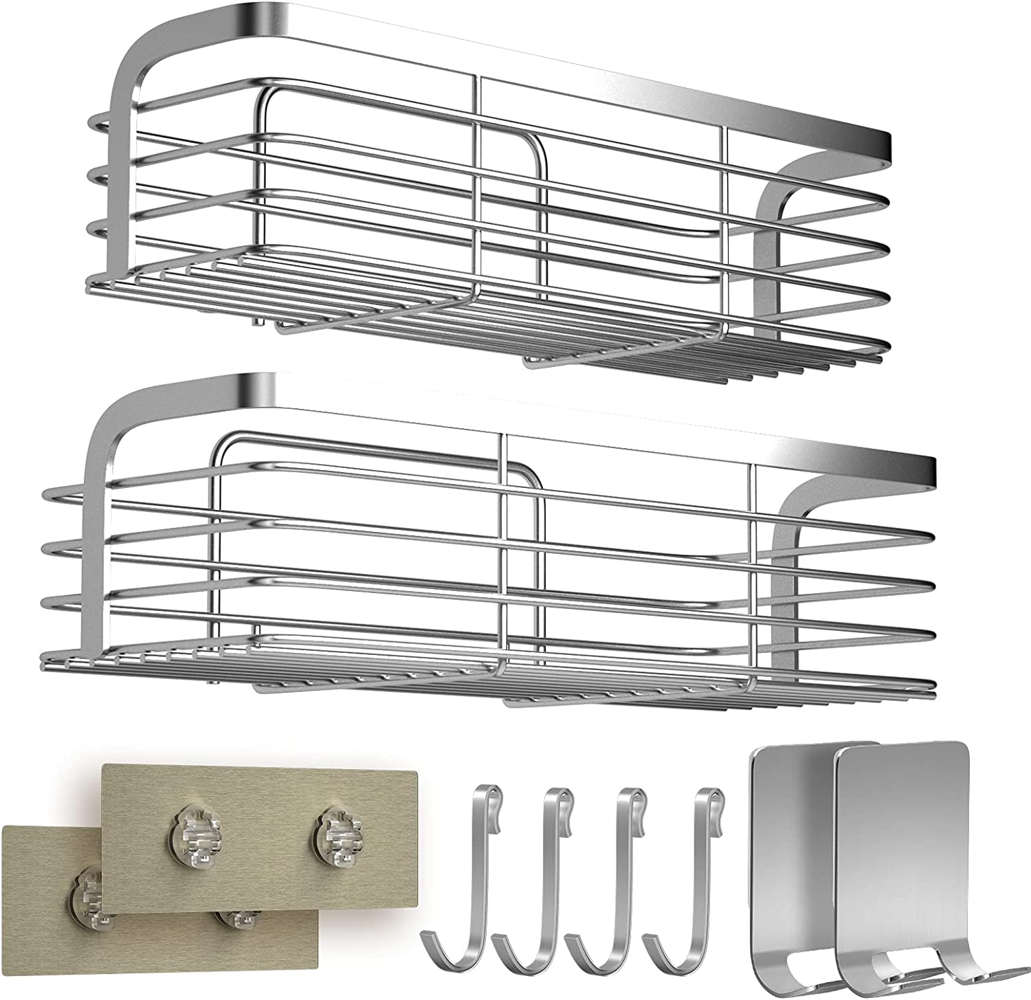 Shower Caddy With Hooks 2 No Requ In New Free Shipping a popularity Drilling Pack Organizer