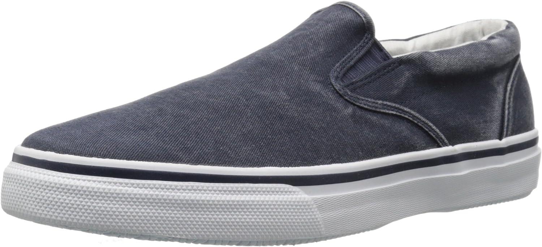 Sperry Top-Sider Men's Striper Slip on Navy Low-Top Sneakers