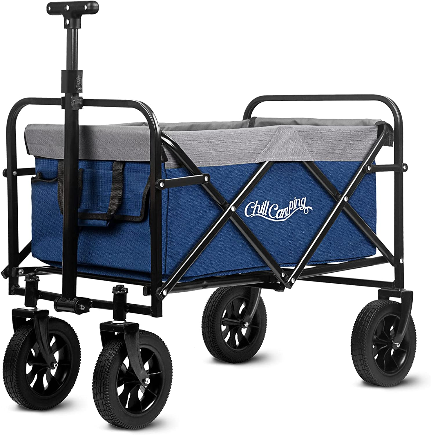Collapsible Wagon Foldable Cart Luxury Ranking TOP8 with Terrain All Uti Big Wheels