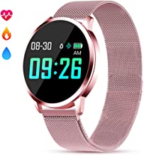 GOKOO Smart Watch for Women with Activity Fitness Tracker Heart Rate Blood Pressure Sleep Tracker Monitor Step Calorie Waterproof Bluetooth Smartwatch Pink