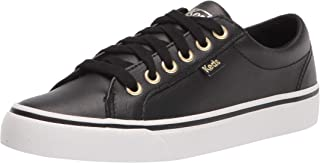 Keds Women's Jump Kick Sneaker Sneaker, Black/Gold, 7 Medium