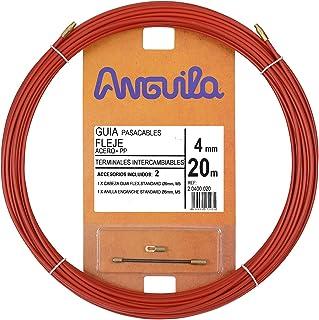 comprar comparacion Anguila 20400020 Guía pasacables Fleje de Acero + Polipropileno, Rojo, 20 Metros