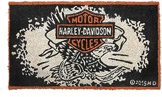Harley-Davidson Legendary Eagle B&S Durable Coir Mat, 16 x 28 - Black 2RM4906