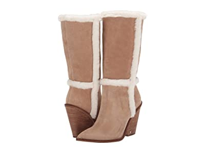 Sam Edelman Ilsa (Oatmeal/Ivory Velutto Suede Leather/Sheared Fox Fur) Women