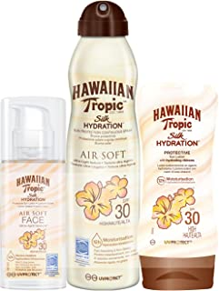 Hawaiian Tropic - Loción Silk Hydration Protective SPF 30 + Spray Bruma Silk Hydration Air Soft SPF 30 + Loción Silk Hydration Air Soft Face SPF 30