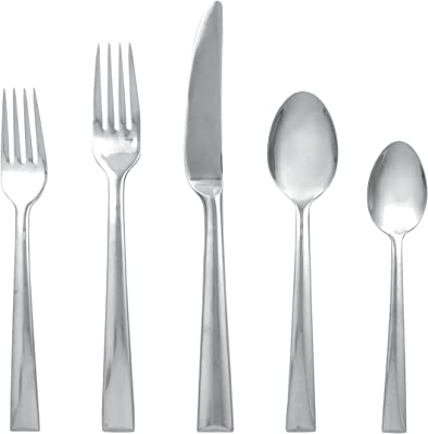 Lenox Continental Dining Stainless-Steel 5-Piece Place Setting, Service for 1, Silver -