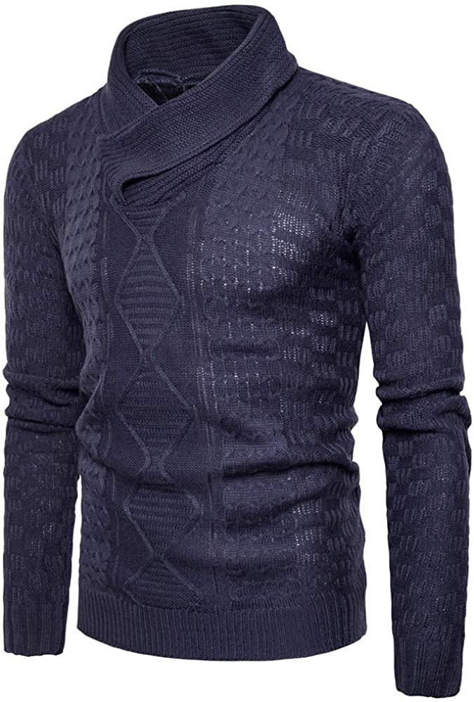 MODOQO Men's Sweater Long Sleeve Stylish Warm Soft Knitwear for Autumn Winter