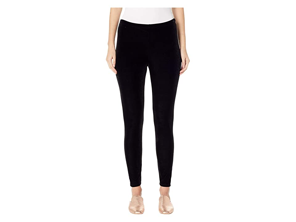 Eileen Fisher Stretchy Velvet Ankle Leggings (Black) Women