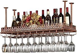 Ceiling Wine Racks Bronze Metal Iron Hanging Wine Glass Holder Wine Glass Rack Storage Goblet Stemware Racks for Living Ro...