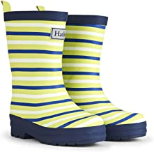 Hatley Boys' Lime Stripes Matte Rain Boots