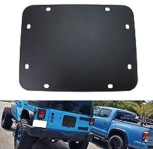 iJDMTOY (1) Black Blank Tailgate Spare Tire Carrier Mount Eliminator Plate for 2007-2017 Jeep Wrangler JK