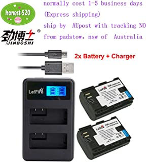 QIAN-Dual Charger+2xBattery LC-E6 LP-E6N for Canon EOS 5D 6D 7D Mark II 70D 80D by AU