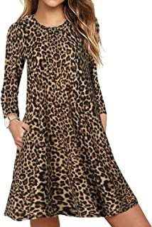 JiaMeng Vestito da Donna con Collo Rotondo Stampato Maniche Mini Abito Manica Girocollo Stampa Partito Casual Cocktail Bowknot Floreale delle Donne