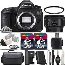 Canon EOS 5DS DSLR 50.6MP Full-Frame CMOS Camera + EF 50mm f/ 1.8 STM Lens + 64GB Storage + Wrist Grip Strap + Case + UV Filter + Card Reader + Air Cleaner + Cleaning Brush - International Version