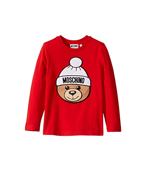 Moschino Kids T-Shirt w/ Hat Toy Bear (Little Kids/Big Kids)
