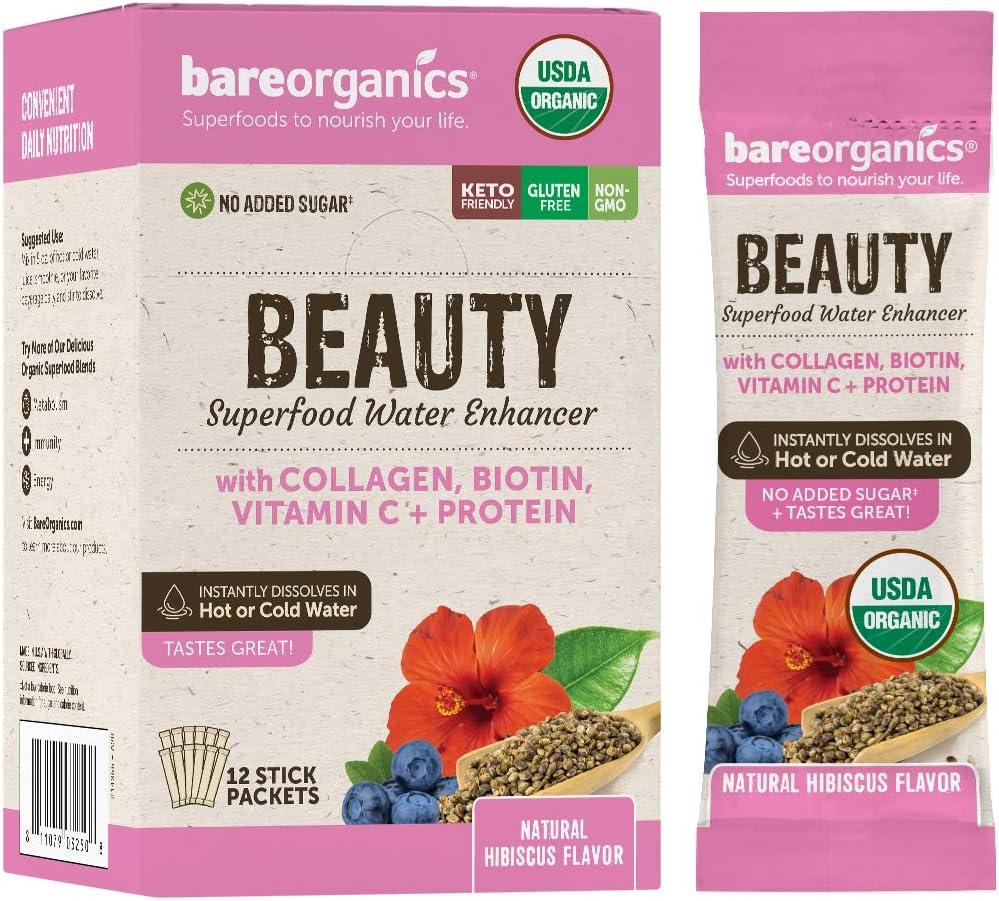 New life Bareorganics On-The-go Beauty Superfood Ranking TOP12 Mix Drink 12 Organic