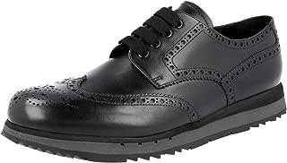 Prada Men's 4E2604 Full Brogue Leather Business Shoes