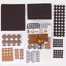 NICEHOUS Felt Furniture Pads for Hardwood Floors,Chair Leg Floor Protectors,Variety Size/Colour Floor Pads,Heavy Duty Felt...