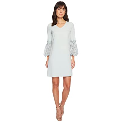 Tahari by ASL Lace Sleeve Shift Dress (Whispering Blue) Women