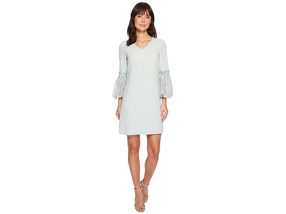 Tahari by ASL Lace Sleeve Shift Dress (Whispering Blue) Women