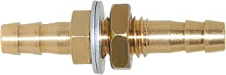 Joyway 3/16'' ID Hose Barb Thru-Bulk Head Fuel, Hex Union Fitting Intersection/Split Brass Water/Fuel/Air