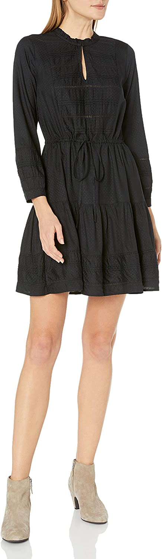 Lucky Brand Women's Kourtney Long Sleeve Fit and Flare Dress