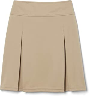French Toast Big Girls Pull-On Kick Pleat Scooter, Khaki, Medium/7/8