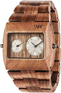 [Wiuddo] WEWOOD Watch Wood/Wooden Jupiter rs NUT Dual Time 9818073 Men's [Regular Imported Goods]
