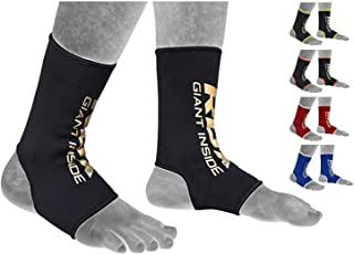 RDX MMA Ankle Support Brace Foot Guard Boxing Protector Achilles Tendon Pain