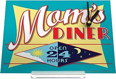 Reloj de escritorio Retro Diner día y noche abierto de la mamá Decoración Retro
