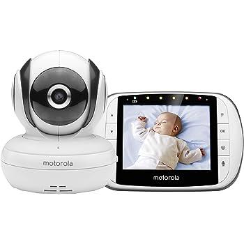Motorola Baby MBP 36S Video Babyphone , Baby-Überwachungskamera , 3,5 Zoll LCD Farbdisplay