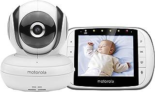 Motorola Baby MBP 36S/SC - Vigilabebés Vídeo con Pantalla LCD a Color de 3.5 Modo Eco y Visión Nocturna Blanco