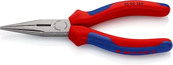Knipex 2502160 6-1/4-Inch Chain Nose Pliers with Cutter - Comfort Grip