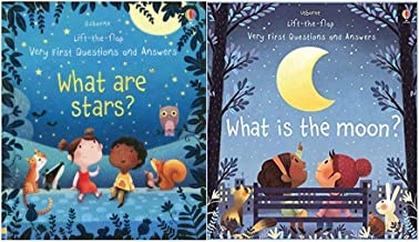 Usbourne Lift The Flap What Are Stars And What Is The Moon 2 Book Set Pack