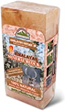 Himalayan Nature 100% Natural Himalayan Rock Deer Salt Block - Animal Licking Mineral Salt Block | 6-8 LBS